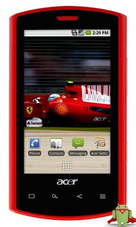 Смартфон Acer Liquid mini Ferrari Edition Liquid mini Ferrari Edition
